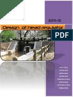 Design of Head Regulator.2 (Autosaved)