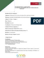 FUNDAMENTOS DE LAS TÉCNICAS DE MEJORA DE LAS CONDICIONES DE TRABAJO