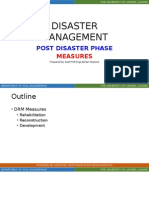 Lecture_6 - Post Disaster Phase