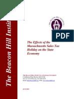 Bhi Sales Tax Holiday Report 2015