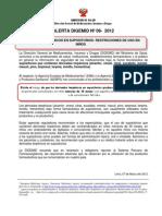 2012 Alerta 08 -12 Derivados Terpenicos