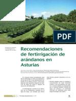 Fertirrigacion de Arandano