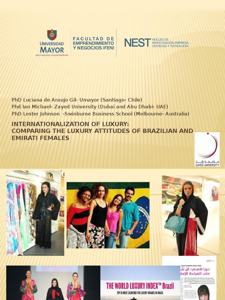 Internationalization of Luxury  Comparing the Luxury Attitudes of Brazilian  and Emirati Females   United Arab Emirates   Survey Methodology 0b6b150b35