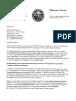 Letter to BNSF From MN Legislators