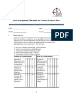 Formulario Evaluación de Riesgo Agrícola