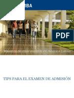 Tips Para Realizar El Examen de Admision Paep