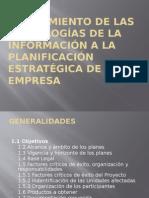Alineamiento de Las Tecnologias de La Informacion a La Planificacion Estrategica