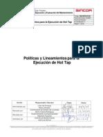Polticas y Lineamientos Para Hot Tap - SM-CNF02-PL001 _Rev 0
