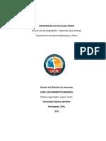 Informe Final Beneficio de Minerales Jose Barrientos m.