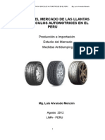 Estudio Del Mercado de Las Llantas Para Vehiculos Automotrices en El Peru