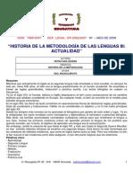 Historia de La Metodologia de Las Lenguas