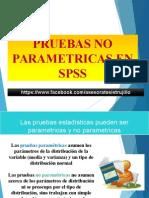 Pruebas No Parametricas  en SPSS
