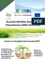 Acuerdo de medidas fitosanitaria y sanitaria de La OMC. Presentación