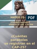 Mateo 25-28 Edc Nazaret