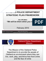 Oakland Police Department Strategic Plan Framework