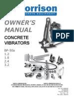 Concrete Vibrators Operators Manual 614