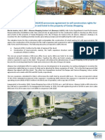 Notice to the Market - Agreement to sell construction rights for development of office tower and hotel in the property of Caxias Shopping