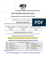 2015 Container Exam Bulletin