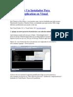 Como Crear Un Instalador Visual Studio