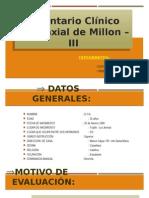 Inventario Clínico Multiaxial de Millon – III