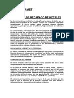 Proceso de Decapado Para Metales Fosfamet Cl