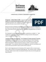 Conditional Licensing Agreement Committee - Procedural Document