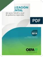 Fiscalización Ambiental del sector Salud a nivel de gobiernos regionales