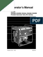 Onan Pro 4000 Generator Operator's Manual