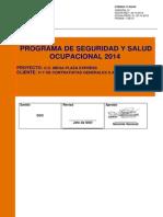 Programa de Seguridad y Salud Ocupacional 2014 - Copia