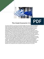 The Greek Economic Crisis