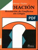 Folberg Y Taylor - Mediacion - Resolucion de Conflictos Sin Litigio