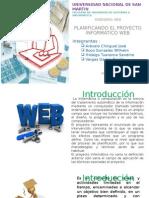 Planificando El Proyecto Informático Web