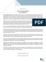 Material Fact - Sale of a stake in Velazquez Empreendimentos e Participa??es