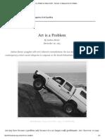 Art is a Problem by Josh...Azine of Art & Politics