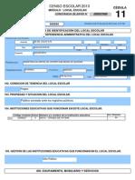 Censo Local Escolar 2013