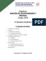 ANALISIS DE OPORTUNIDADES Y RIESGOS - 2012-II.docx