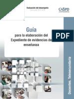 Guia Elabora Expediente Evidencias de Ensenanza Telesecundaria