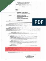 BIR Memo Tax Excemption for Philippine Red Cross