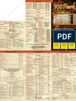 900 Park Take Out Menu