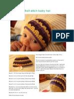 Shell Stitch Baby Hat