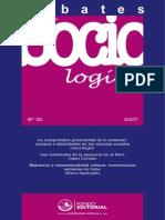 La construccion de la agencia social - Emilio Rojas Debates en Sociologia 32 2007