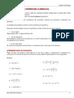Álgebra 4 Multiplicación Algebraica