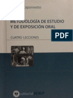 Metodología de estudio y de exposición oral_Antonio_Caponetto