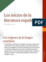 Los inicios de la literatura española
