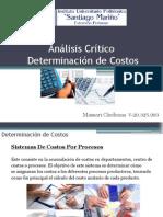 Análisis Crítico Determinación de Costos Massari