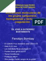 Alteraciones Moleculares de Los Grupos Sanguíneos, Hemoglobinas