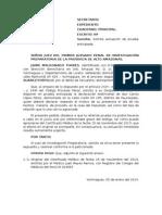 Modelo de Escrito Solicitando Actuación de Prueba Anticipada (Testitomonial)