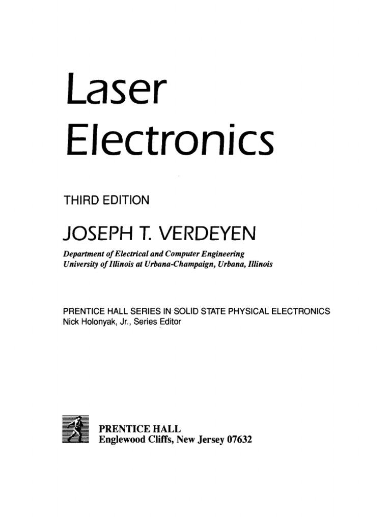 [Joseph Thomas Verdeyen] Laser Electronics