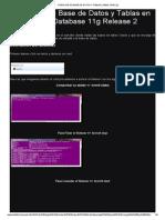 Creacion de Base de Datos y Tablas _ Dbms Oracle