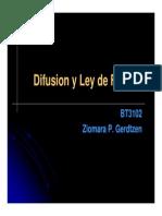 2.3 Difusion Ley de Fick y Random Walk